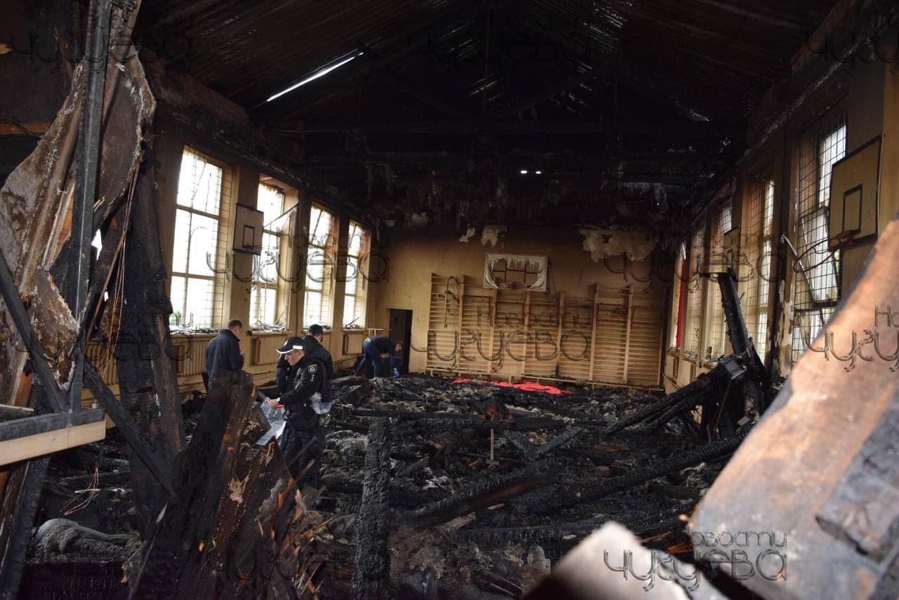Пожар в Чугуевском лицее признали чрезвычайной ситуацией - зданию было почти 100 лет